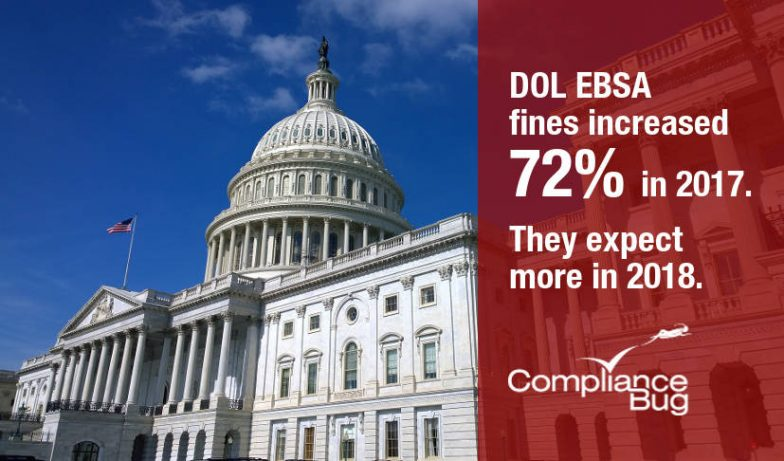 ERISA DOL Fines Were Up 72% in 2017.  The EBSA Expects More in 2018.